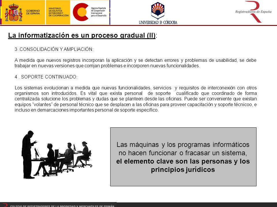 La informatización es un proceso gradual (II):
