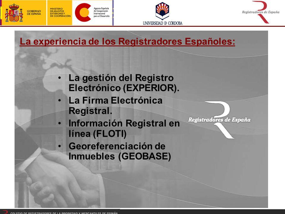 La experiencia de los Registradores Españoles: