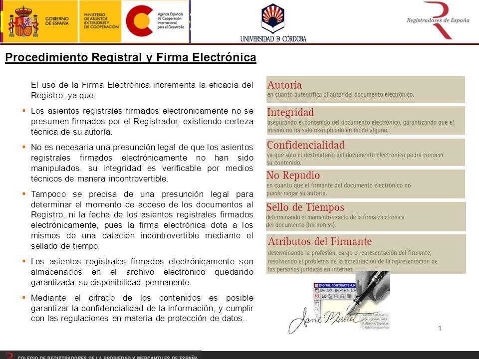 Procedimiento Registral y Firma Electrónica
