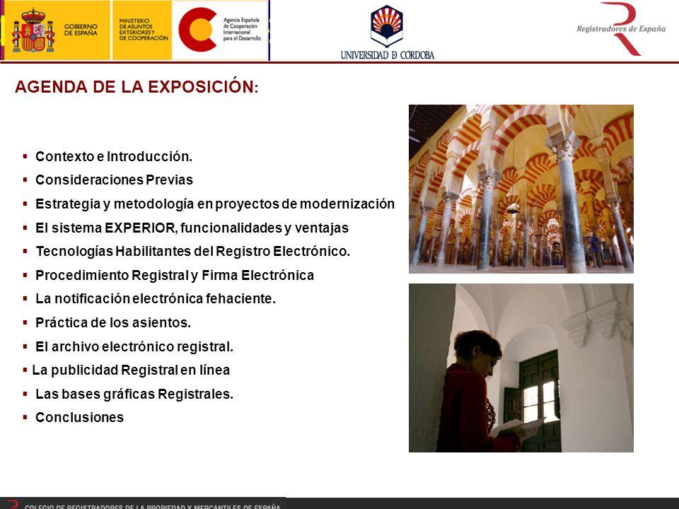 AGENDA DE LA EXPOSICIÓN: