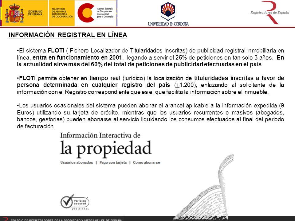 INFORMACIÓN REGISTRAL EN LÍNEA