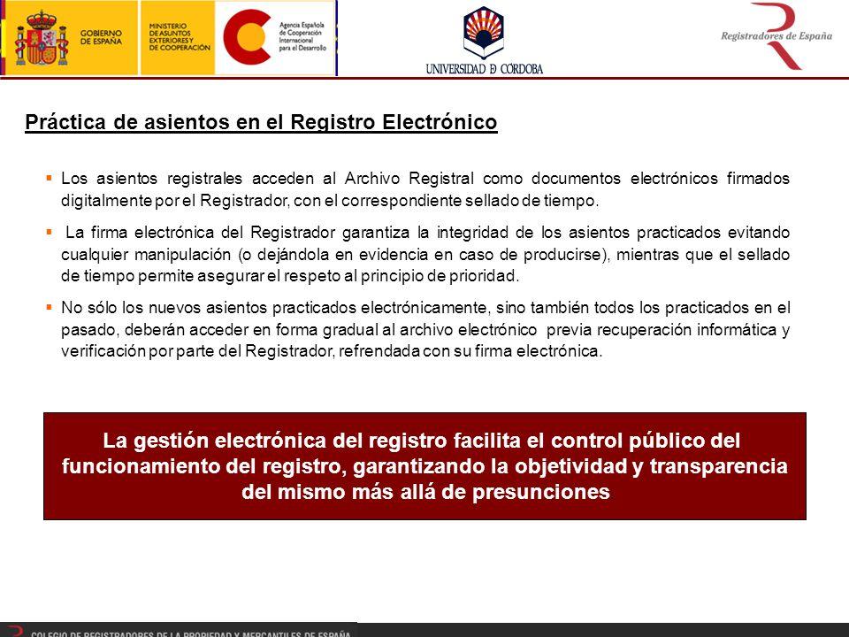La gestión electrónica del registro facilita el control público del