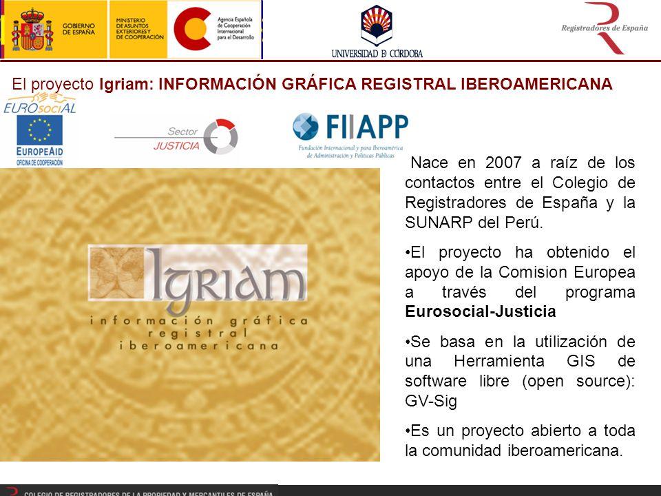 El proyecto Igriam: INFORMACIÓN GRÁFICA REGISTRAL IBEROAMERICANA