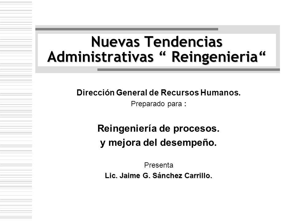 Nuevas Tendencias Administrativas Reingenieria