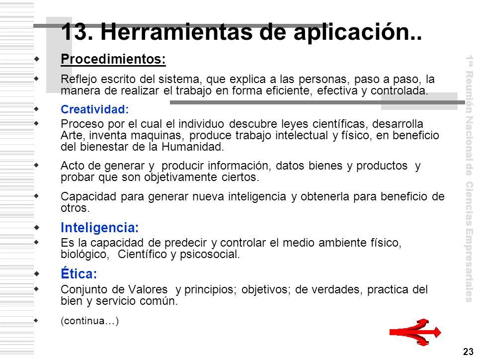 13. Herramientas de aplicación..