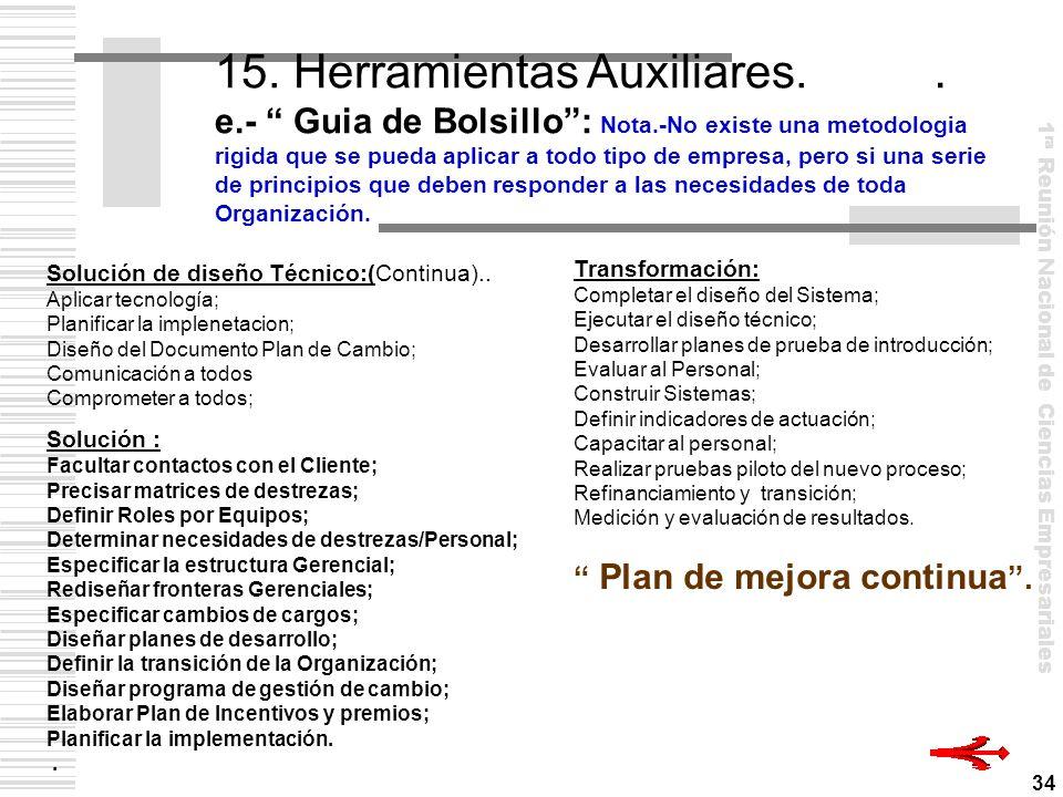 15. Herramientas Auxiliares. e. - Guia de Bolsillo : Nota