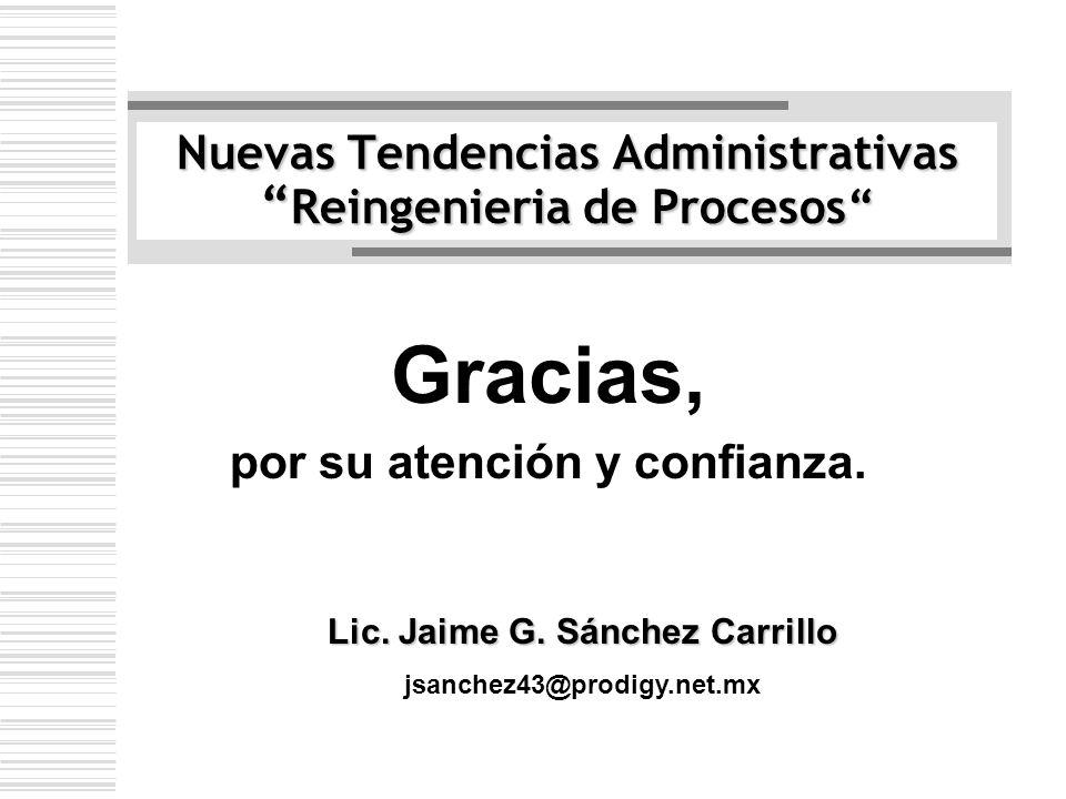 Nuevas Tendencias Administrativas Reingenieria de Procesos
