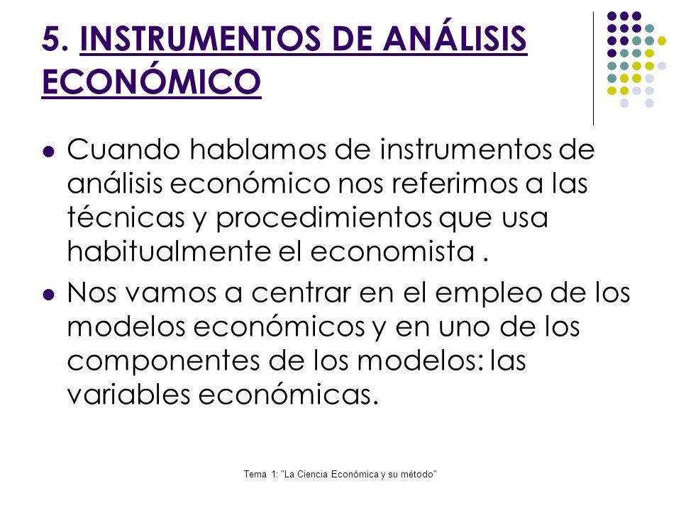 5. INSTRUMENTOS DE ANÁLISIS ECONÓMICO