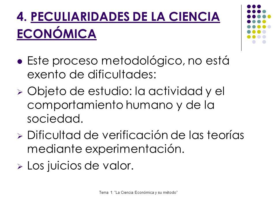 4. PECULIARIDADES DE LA CIENCIA ECONÓMICA
