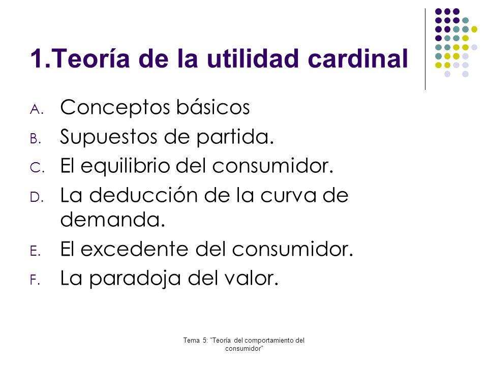 1.Teoría de la utilidad cardinal
