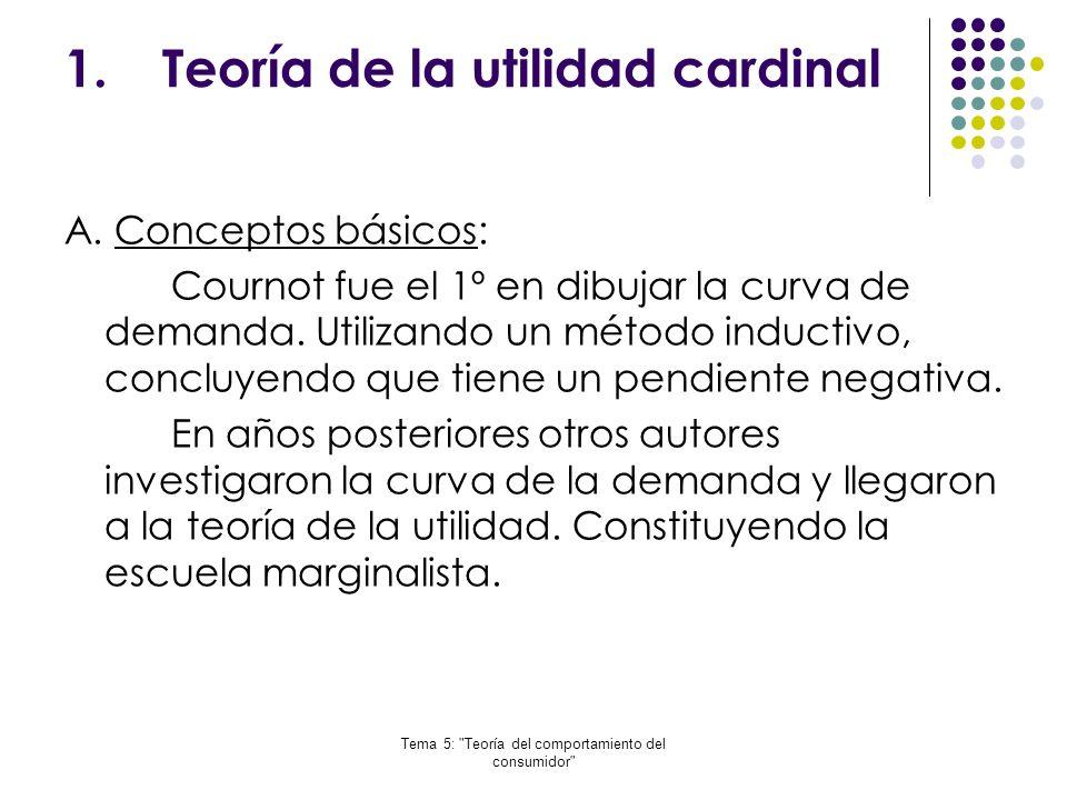 Teoría de la utilidad cardinal