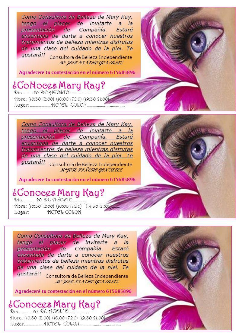 ¿CoNoces Mary Kay ¿Conoces Mary Kay ¿Conoces Mary Kay