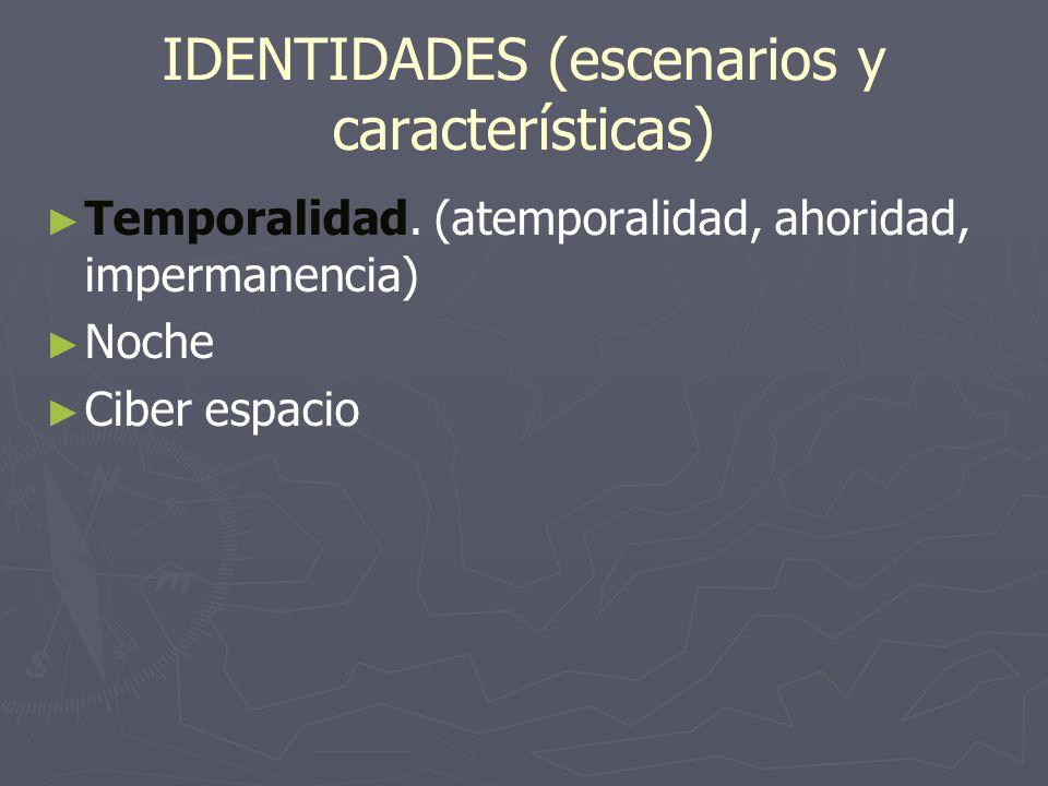 IDENTIDADES (escenarios y características)