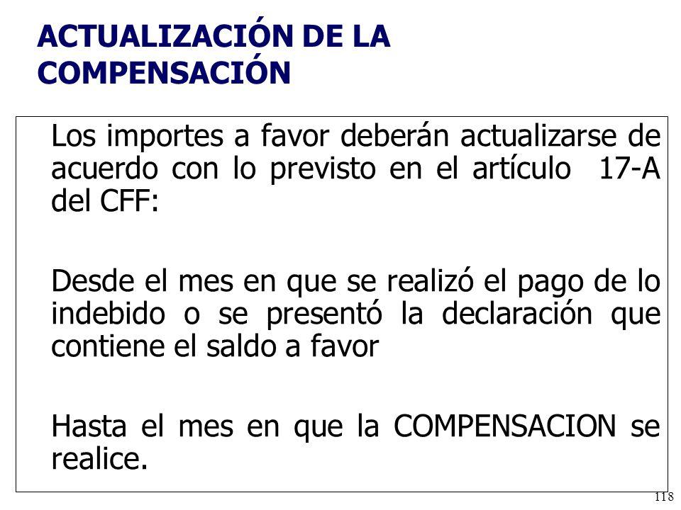 ACTUALIZACIÓN DE LA COMPENSACIÓN
