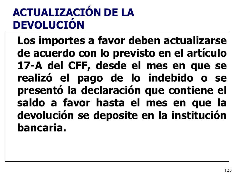 ACTUALIZACIÓN DE LA DEVOLUCIÓN