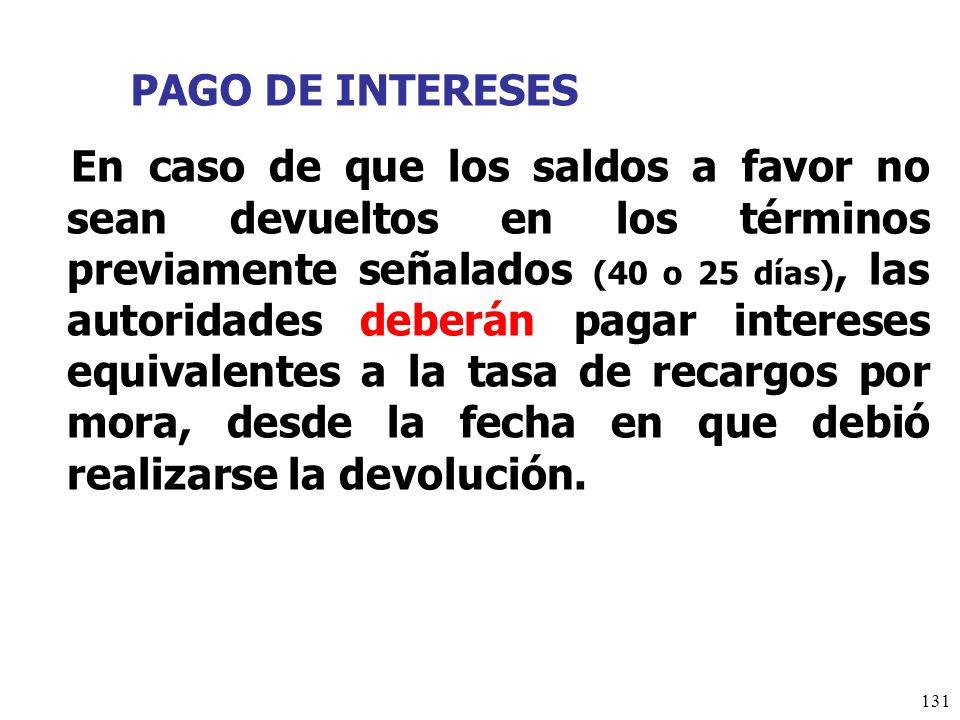 PAGO DE INTERESES