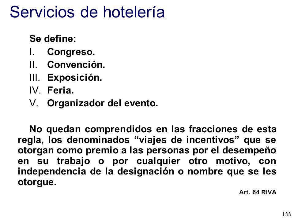 Servicios de hotelería