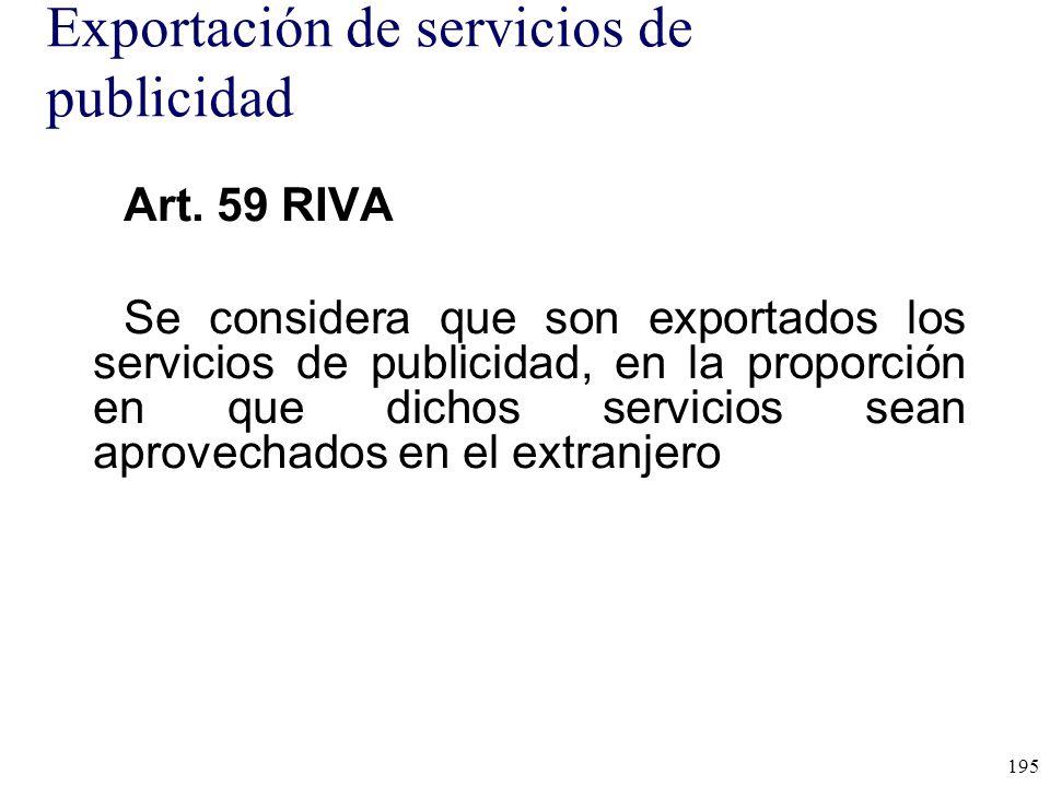 Exportación de servicios de publicidad