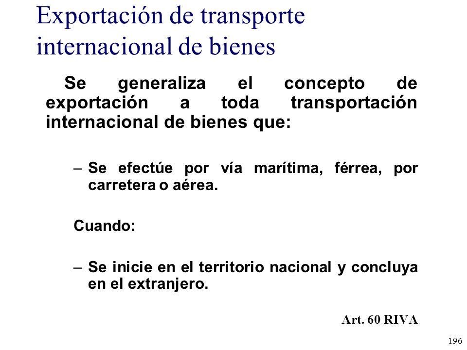 Exportación de transporte internacional de bienes
