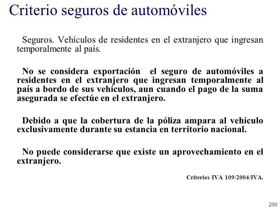 Criterio seguros de automóviles