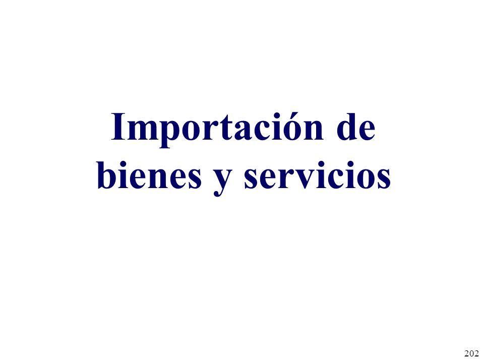 Importación de bienes y servicios