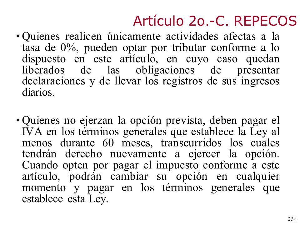 Artículo 2o.-C. REPECOS