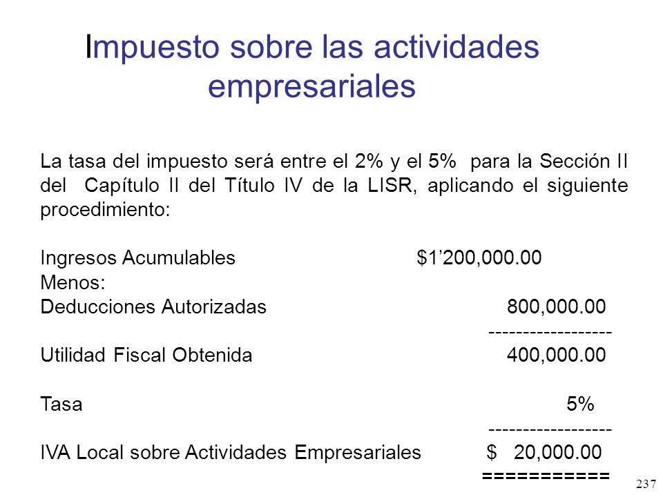 Impuesto sobre las actividades empresariales