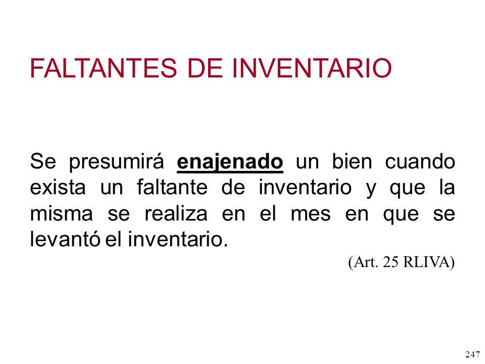 FALTANTES DE INVENTARIO