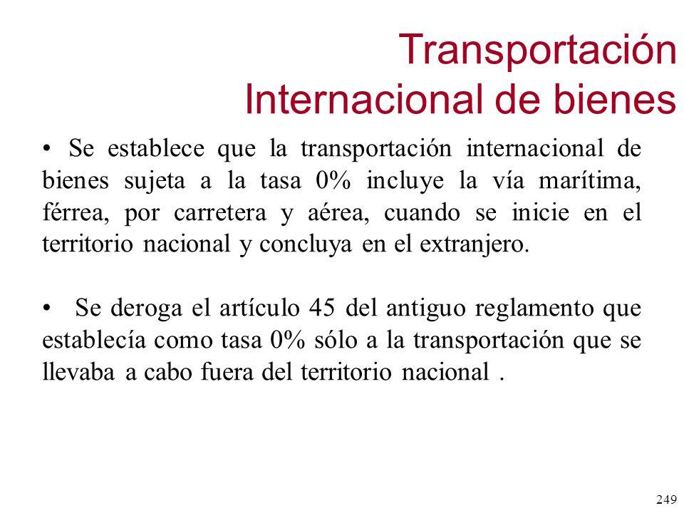 Transportación Internacional de bienes