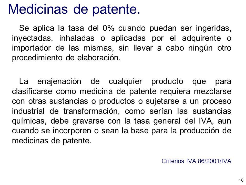 Medicinas de patente.