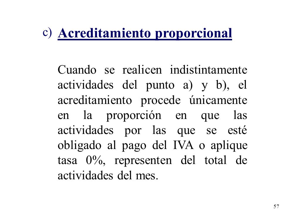 Acreditamiento proporcional