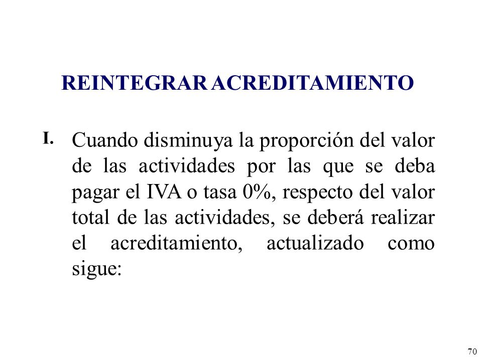 REINTEGRAR ACREDITAMIENTO