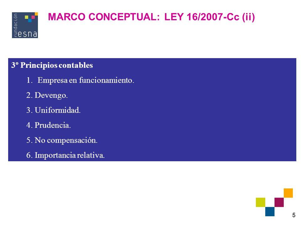 MARCO CONCEPTUAL: LEY 16/2007-Cc (ii)