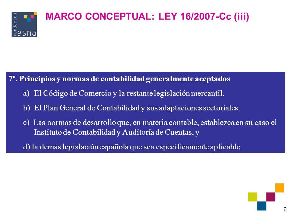 MARCO CONCEPTUAL: LEY 16/2007-Cc (iii)