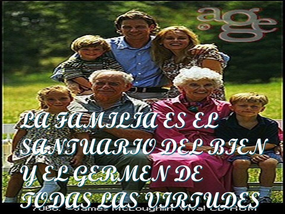 LA FAMILIA ES EL SANTUARIO DEL BIEN Y EL GERMEN DE TODAS LAS VIRTUDES