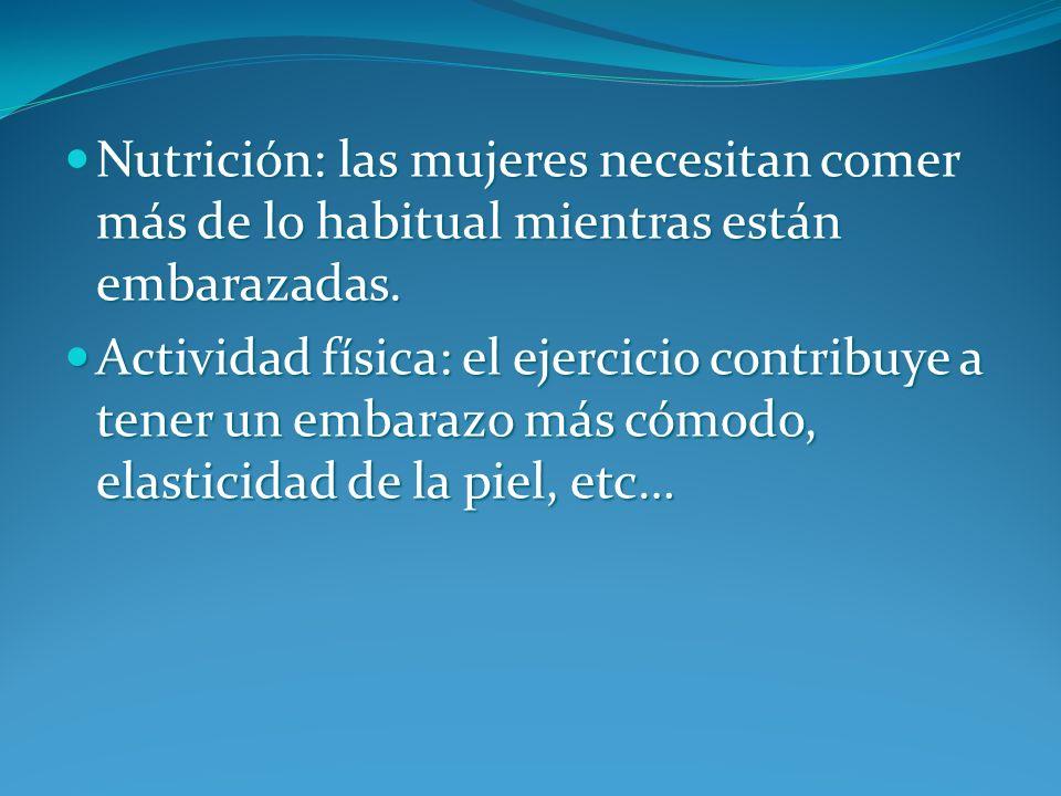 Nutrición: las mujeres necesitan comer más de lo habitual mientras están embarazadas.