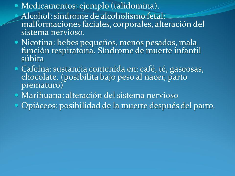 Medicamentos: ejemplo (talidomina).