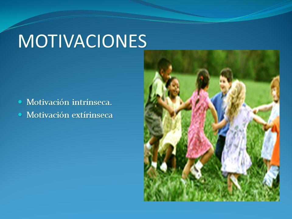 MOTIVACIONES Motivación intrínseca. Motivación extírinseca