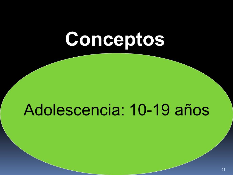 Conceptos Adolescencia: 10-19 años
