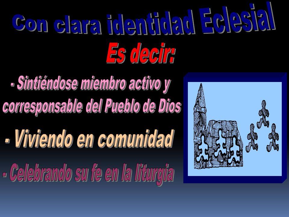 Con clara identidad Eclesial