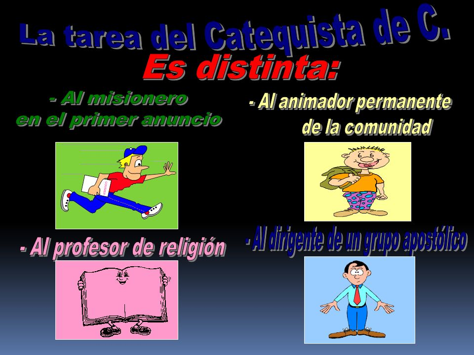 La tarea del Catequista de C.