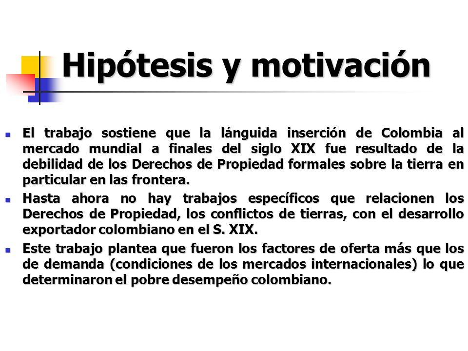 Hipótesis y motivación