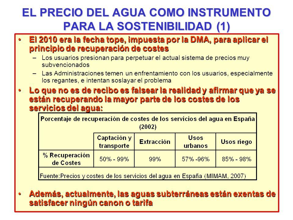 EL PRECIO DEL AGUA COMO INSTRUMENTO PARA LA SOSTENIBILIDAD (1)