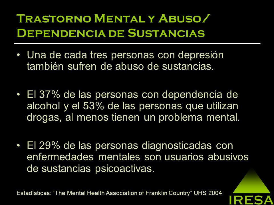 Trastorno Mental y Abuso/ Dependencia de Sustancias
