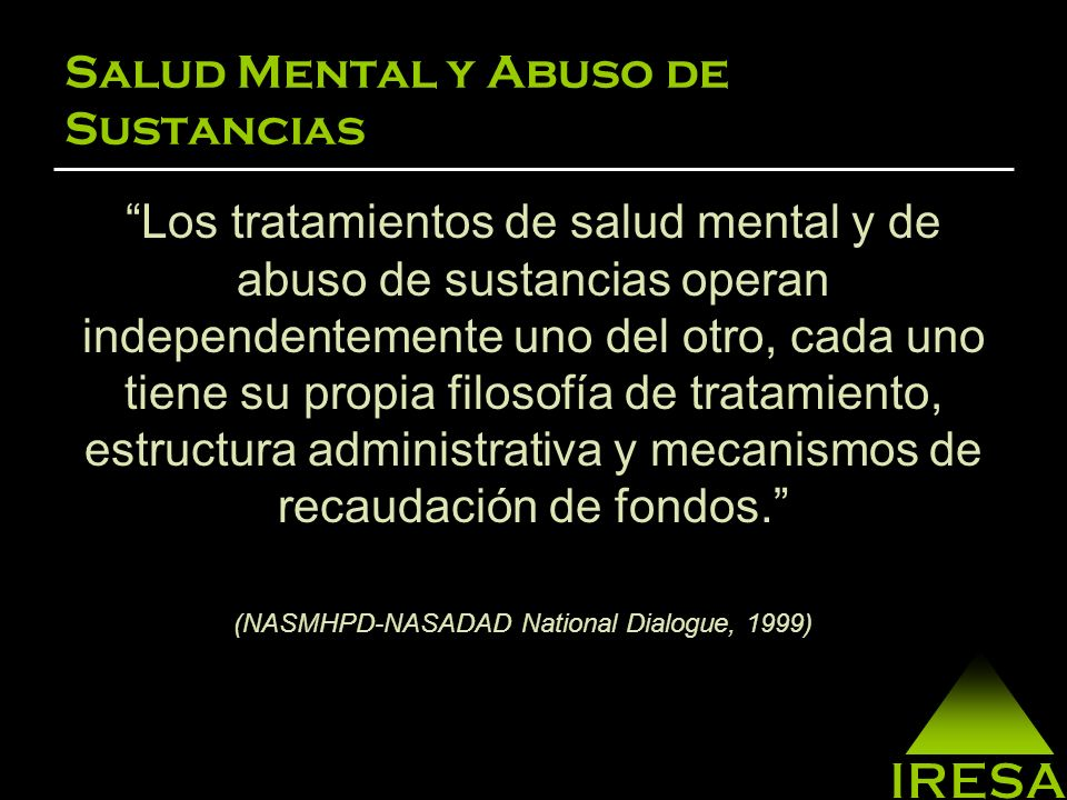 Salud Mental y Abuso de Sustancias