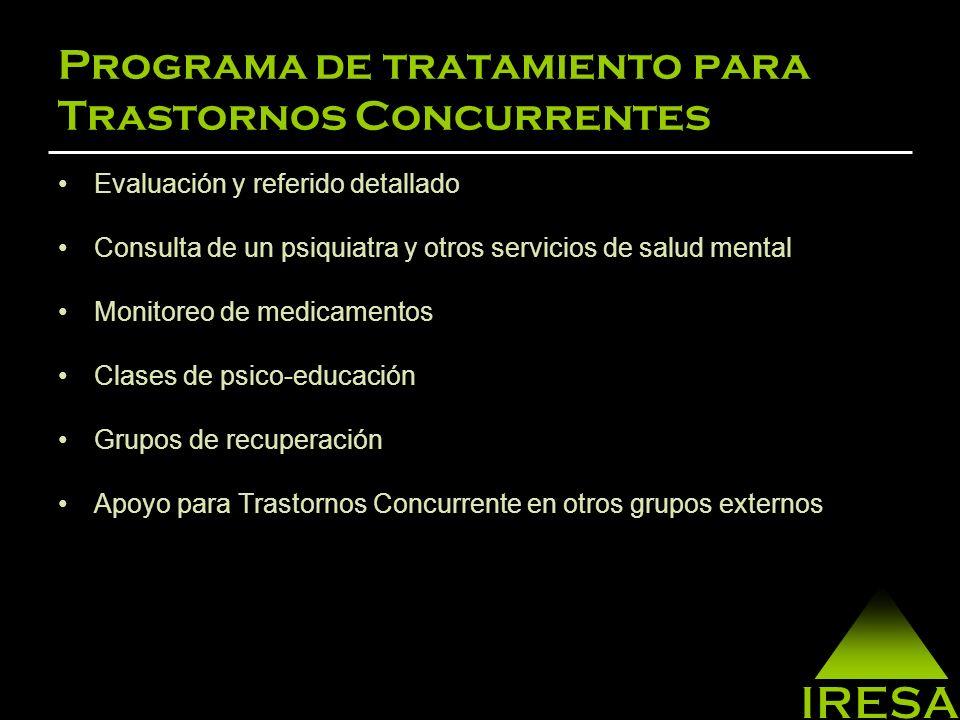 Programa de tratamiento para Trastornos Concurrentes