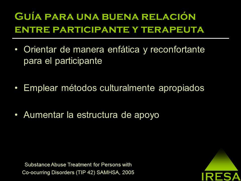 Guía para una buena relación entre participante y terapeuta