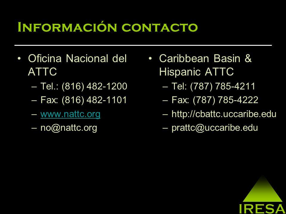 Información contacto Oficina Nacional del ATTC