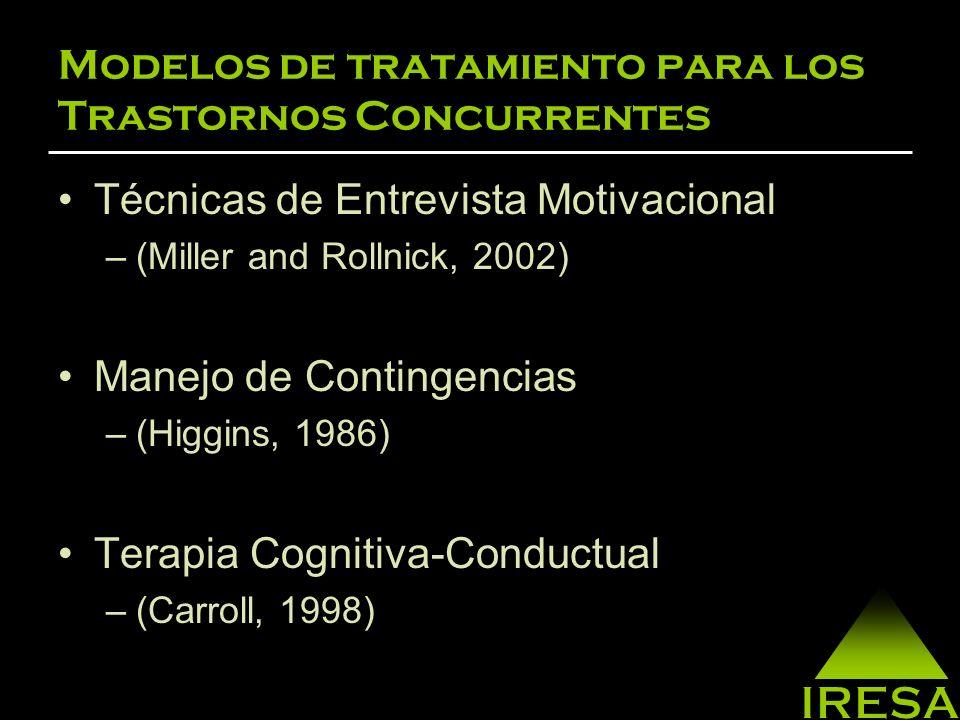 Modelos de tratamiento para los Trastornos Concurrentes