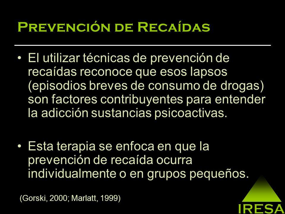 Prevención de Recaídas